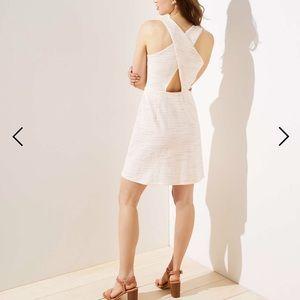 NWT Loft Striped Criss Cross Back Pocket Dress 4P